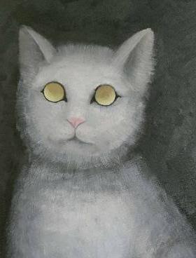 油画白猫...