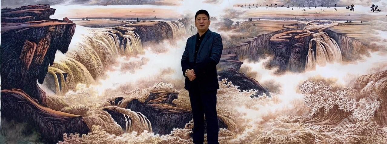 当代著名画家王大为彩墨山水作品欣赏
