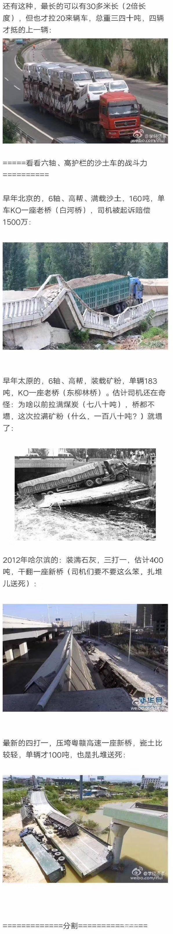 """大貨車事故頻發,如何辨認那些能把橋壓垮的""""大殺傷力""""貨車?"""