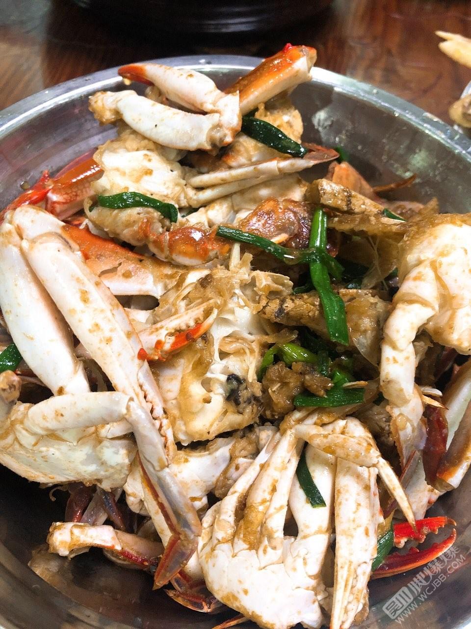 第一次做姜蔥炒蟹,茄汁大蝦