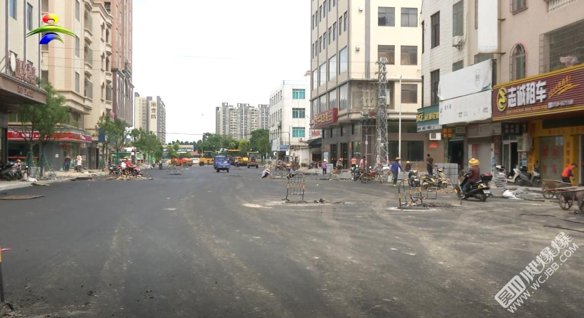 吳川市區廣沿路升級改造工程進入掃尾階段,預計八月中旬完工