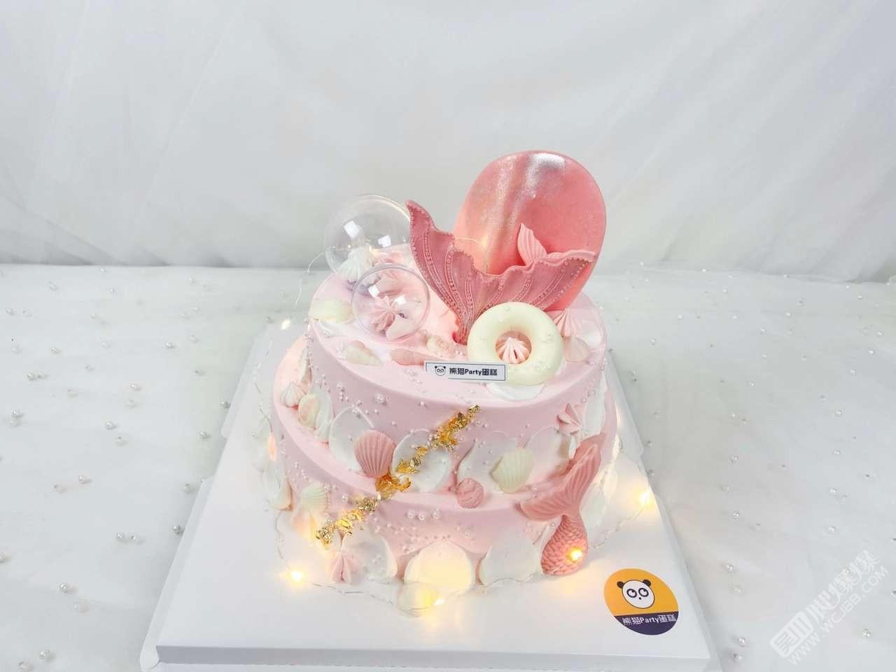 粉色美人魚蛋糕