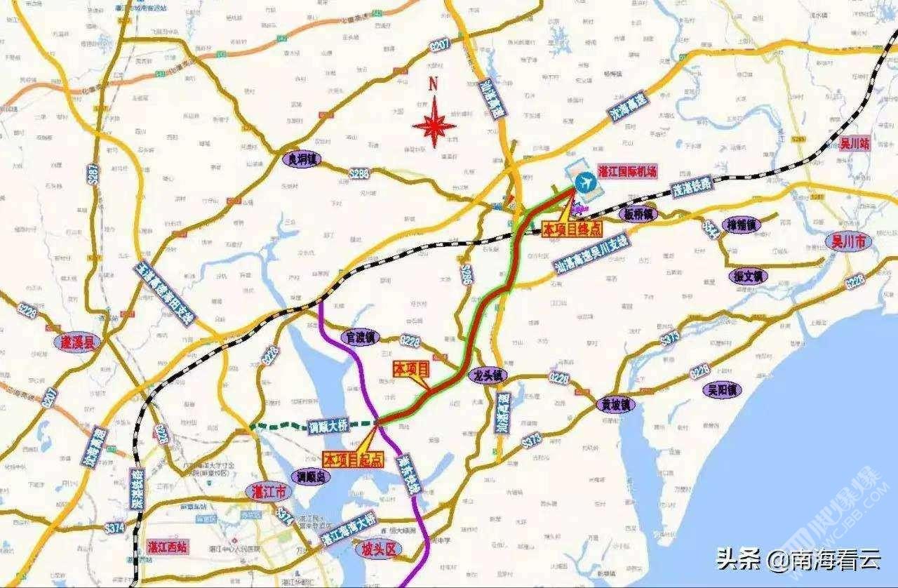 新建湛江機場高速將駁接吳川機場高速