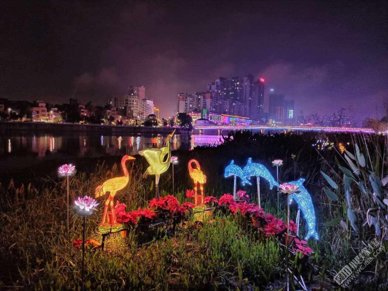 元宵節吳川夜景還是挺好看的