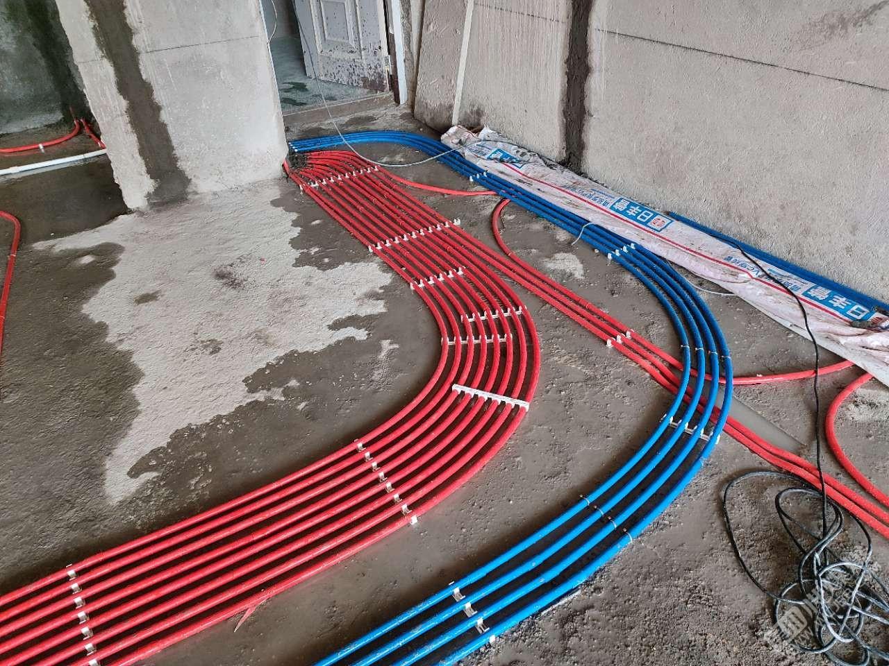 海逸半島8棟01戶型水電前期布管預埋完成